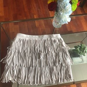 Bcbg microsuede skirt